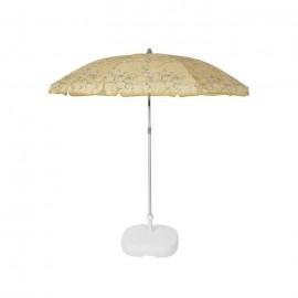 EZPELETA Parasol de plage Beach  Ř 180 cm  Cachemire jaune Socle non inclus