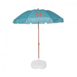 EZPELETA Parasol de plage Fold  Ř 180 cm  Tongs orange Socle non inclus