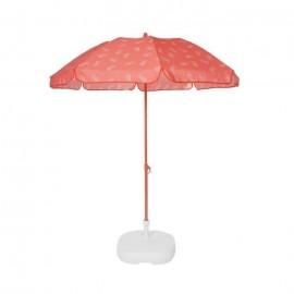 EZPELETA Parasol de plage Fold  Ř 180 cm  Tongs vert Socle non inclus