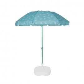 EZPELETA Parasol de plage Fold  Ř 180 cm  Ananas vert Socle non inclus
