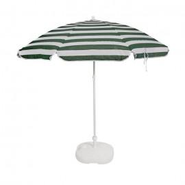 EZPELETA Parasol inclinable Bora  Ř 160 cm  Rayé vert et blanc Socle non inclus