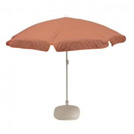 EZPELETA Parasol inclinable Bora  Ř 160 cm  Rayé orange et gris Socle non inclus