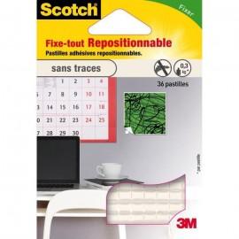 3M SCOTCH 36 pastilles adhésives  Repositionnable