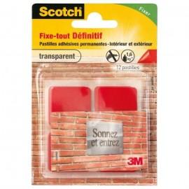 3M SCOTCH 12 pastilles adhésives  Permanent