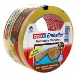 TESA Ruban adhésif d\'emballage Rapide et Solide  66m x 50mm transparent