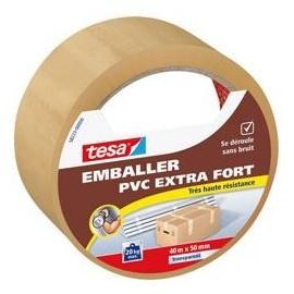 TESA Ruban PVC extra fort  40m x 50mm  Transparent