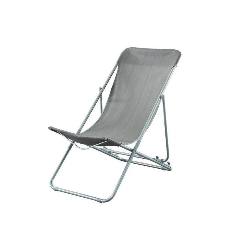 beau rivage set de 2 chaises relax de jardin ibiscus en acier rose - Relax De Jardin