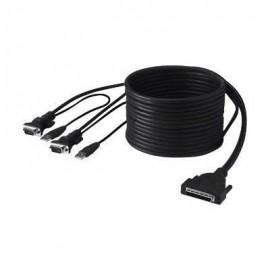 BELKIN câble KVM  OmniView DualPort  VGA & USB  3,5m