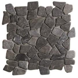 Galet Marbre noir  30 x 30 cm