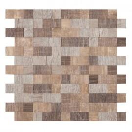 Mosaique Briques Bois  30.5 x 30.5 cm