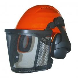 JARDIN PRATIQUE Casque de protection forestier avec grille métallique  Proteges oreilles