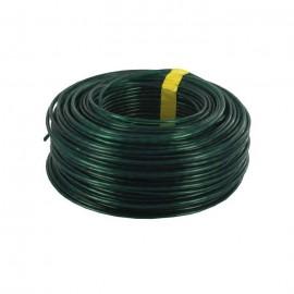 Corde a linge  Ř 2,7 mm x 60 m  PVC et acier  Vert