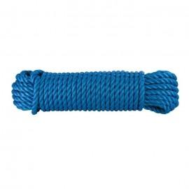 Corde polypropylene  Ř 8 mm x 15 m  Bleu