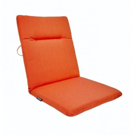EZPELETA Coussin de chaise maxi Green  87 x 44 cm  Orange corail