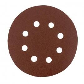 Lot de 6 disques abrasifs pour poncer  Ř 125 mm  Grain moyen 80