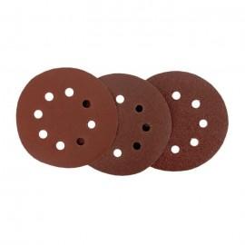 Assortiment de 12 disques abrasifs  Grain 40, 80 & 120  Ř 125 mm