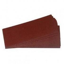 Lot de 12 rectangles abrasifs tous travaux  230 mm  Grain 40 / 80 / 120