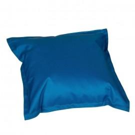 EASY FOR LIFE Coussin Déco a voLant Pratik  Bleu  Petrole40x40x10cm