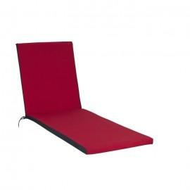 JARDIN PRIVE Coussin Bain de soleil 186x55x5cm  Rouge cerise