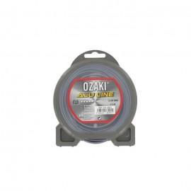 JARDIN PRATIQUE Fil nylon alu line OZAKI pour débroussailleuse  Ř 2  mm  L 15 m