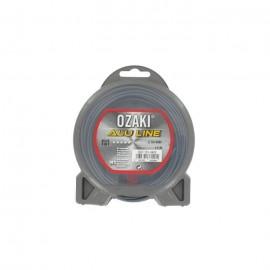 JARDIN PRATIQUE Fil nylon alu line OZAKI pour débroussailleuse  Ř 2,5  mm  L 15 m