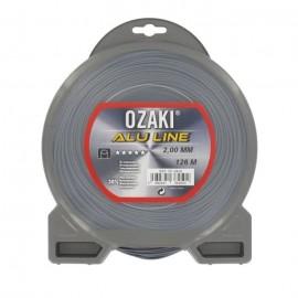 JARDIN PRATIQUE Fil nylon alu line OZAKI pour débroussailleuse  Ř: 2  mm  L 126 m
