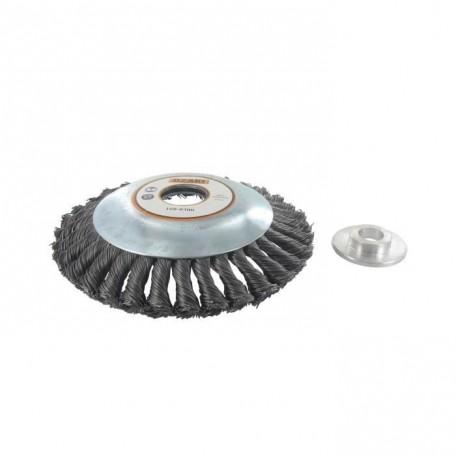 JARDIN PRATIQUE Tete brosse métallique pour débroussailleuse ř 150 mm  a partir de 30 cc
