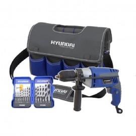 HYUNDAI Perceuse a percussion 600 W avec sac a outil et coffret 15 accessoires