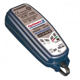 JARDIN PRATIC Chargeur de batterie OPTIMATE 3, de 2 a 30 Ah avec fonction désulfatation