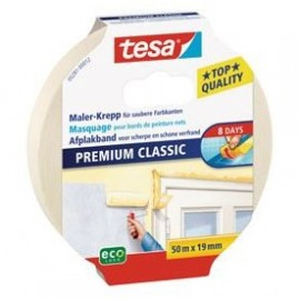 TESA Ruban de masquage Protection Classic  50m x 19mm  Sans trace 8 jours