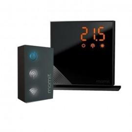 MOMIT HOME Thermostat Starter Kit Pure Black connecté sans fil