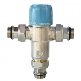 """SOMATHERM Limiteur Thermostatique Réglable NF de 35 a 50C  Avec Clapets AntiRetours 3/4\"""" pour Chauffe Eau"""