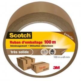 3M SCOTCH Ruban adhésif d\'emballage  100 m x 48 mm  Marron