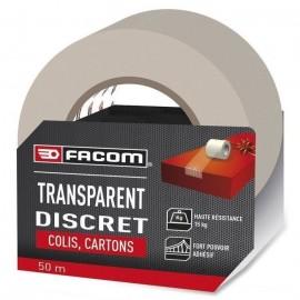 FACOM Adhésif d\'emballage transparent 50m x 48mm