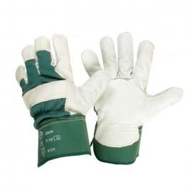 JARDIN PRATIQUE Gants de travail en cuir  Taille 10 / L  Vert et blanc