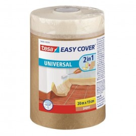 TESA Ruban de masquage  Easy Cover ecoLogo Kraft S, (bâche  ruban de masquage) 20m x 150mm