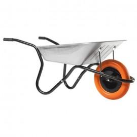 HAEMMERLIN Brouette Bibox Smart  Caisse galvanisée : 90 L  Roue increvable