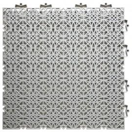DCFLOOR Dalles de sol clipsables  Polypropylene  38 x 38 x 1 cm  Gris