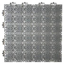 DCFLOOR Dalles de sol clipsables  Polypropylene  38 x 38 x 1 cm  Gris anthracite