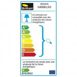 SMARTWARES Applique extérieure avec détecteur crépusculaire - Noir