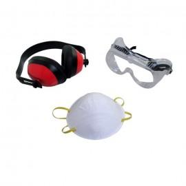 MEISTER Jeu de 3 pieces pour protection de travail  casques