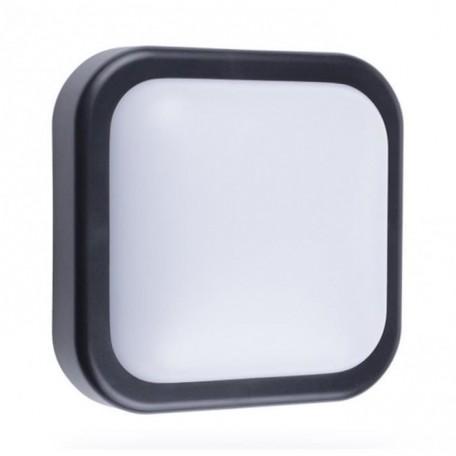 SMARTWARES Applique extérieure Led 10W carrée en plastique GOL002HB  Noir