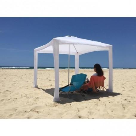Tente Plage Cabana, avec son sac de transport  Blanc