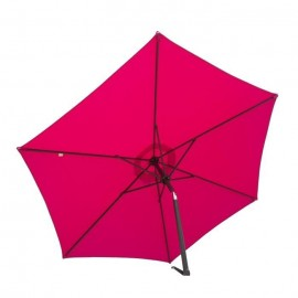 FINLANDEK Parasol droit inclinable 2,5m  Framboise