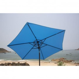 FINLANDEK Parasol droit inclinable 2,5m  Bleu