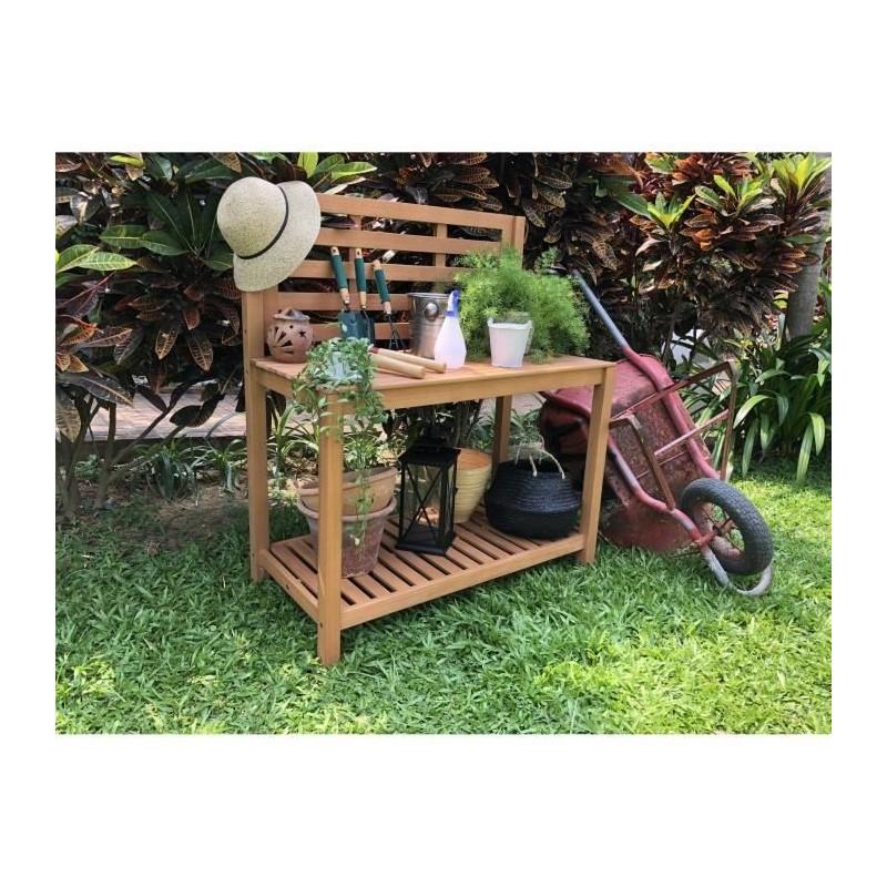 Table de plantation étagere pour jardin en acacia bois FSC 103x51 ...