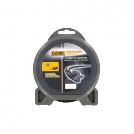 JARDIN PRATIQUE Fil nylon hélicoidal OZAKI PREMIUM pour débroussailleuse  Ř 2,4  mm  L x 15 m