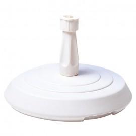 EDA PLASTIQUE Pied de parasol béton rond  Blanc  14kg