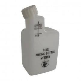 JARDIN PRATIC Bouteille en plastique pour mélange  2 Temps  Graduée a 1/25, 1/32, 1/40, 1/50