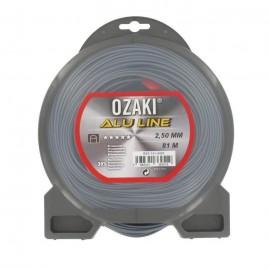 JARDIN PRATIQUE Fil nylon alu line OZAKI pour débroussailleuse  Ř 2,5  mm  L 81 m